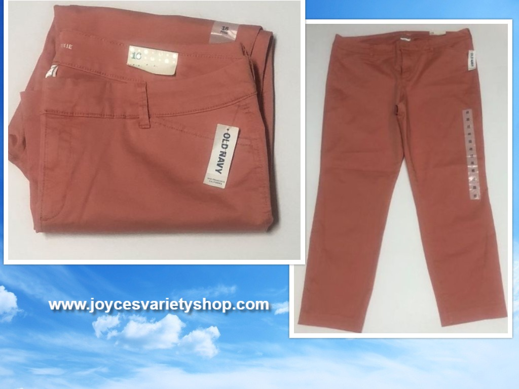Old Navy Pixie Pants Coral Sz 16 Ankle Length
