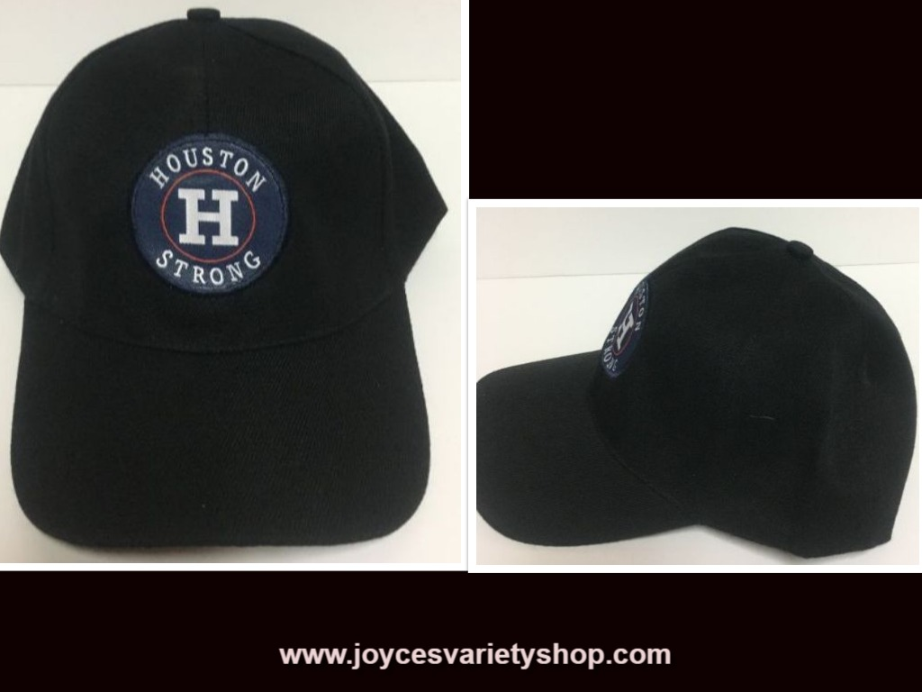 Houston Strong Black Base Ball Hat Cap Adult Size Adjustable