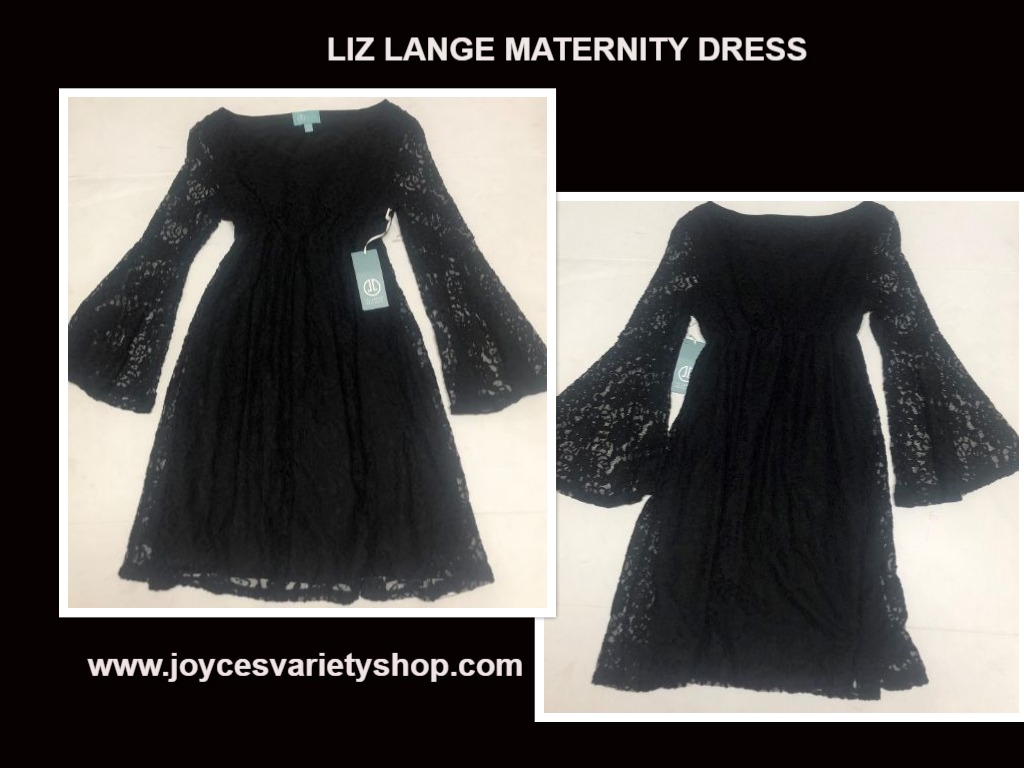 Liz Lange Maternity Dress Black Lace Sz S/P