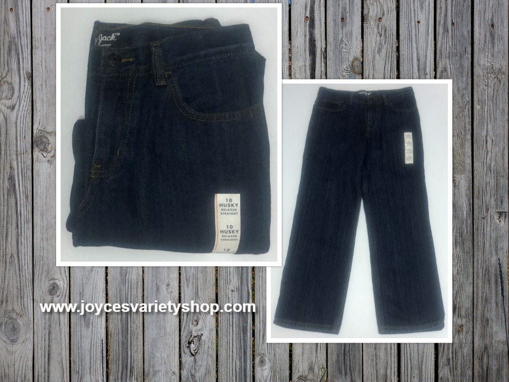 Boy's Blue Jeans Sz 10 Husky Cat & Jack Relaxed Straight