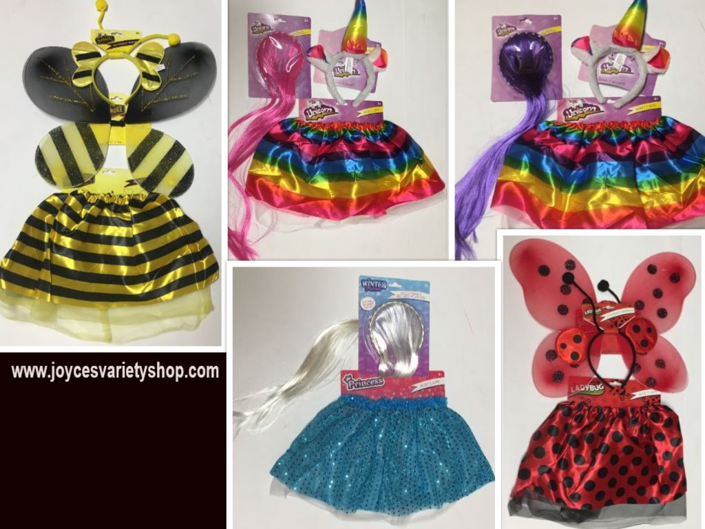 Toddler Costume Sets Age 3+ Unicorn, Winter Princess, Bumble Bee or Lady Bug